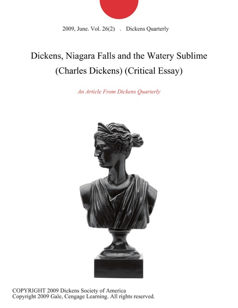 dickens niagara falls and the watery sublime charles dickens  dickens niagara falls and the watery sublime charles dickens critical essay by dickens quarterly on ibooks