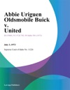 Abbie Uriguen Oldsmobile Buick V United