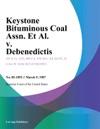 Keystone Bituminous Coal Assn Et Al V Debenedictis