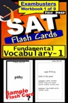 SAT Test Prep Essential Vocabulary 1 Review--Exambusters Flash Cards--Workbook 1 Of 9