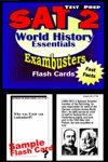 SAT 2 World History Test Prep Review--Exambusters Flash Cards
