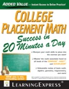 College Placement Math Success In 20 Minutes A Day