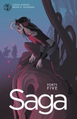 Saga #45 - Brian K. Vaughan & Fiona Staples Cover Art