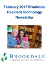February 2017 Brookdale Resident Technology Newsletter