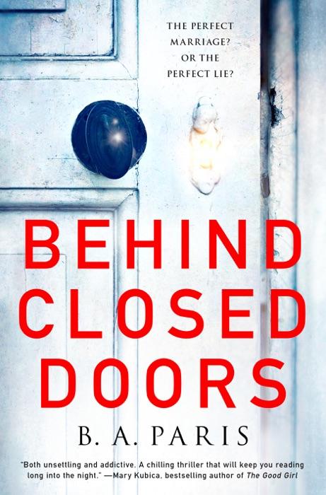 Behind Closed Doors B A Paris Book