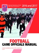 2016-17 NFHS FOOTBALL GAME OFFICIALS MANUAL - NFHS Cover Art