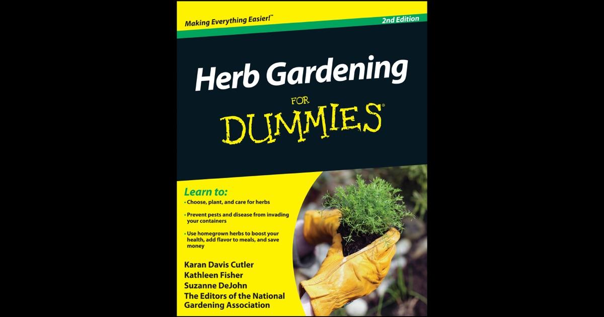 Herb Gardening For Dummies By Karan Davis Cutler Kathleen