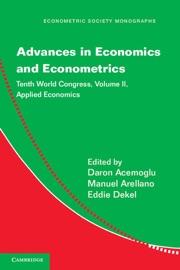 ADVANCES IN ECONOMICS AND ECONOMETRICS: VOLUME 2, APPLIED ECONOMICS