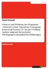 Chancen Und Probleme Des Programms Network Centric Operations Conceptual Framework Version 20 Fr Das US-Militr Analyse Aufgrund Theoretischer Berlegungen Und Praktischer Erfahrungen