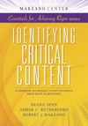 Identifying Critical Content Classroom Techniques To Help Students Know What Is Important