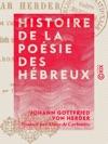 Histoire De La Posie Des Hbreux