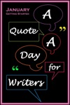 A Quote A Day For Writers 1 January - Getting Started