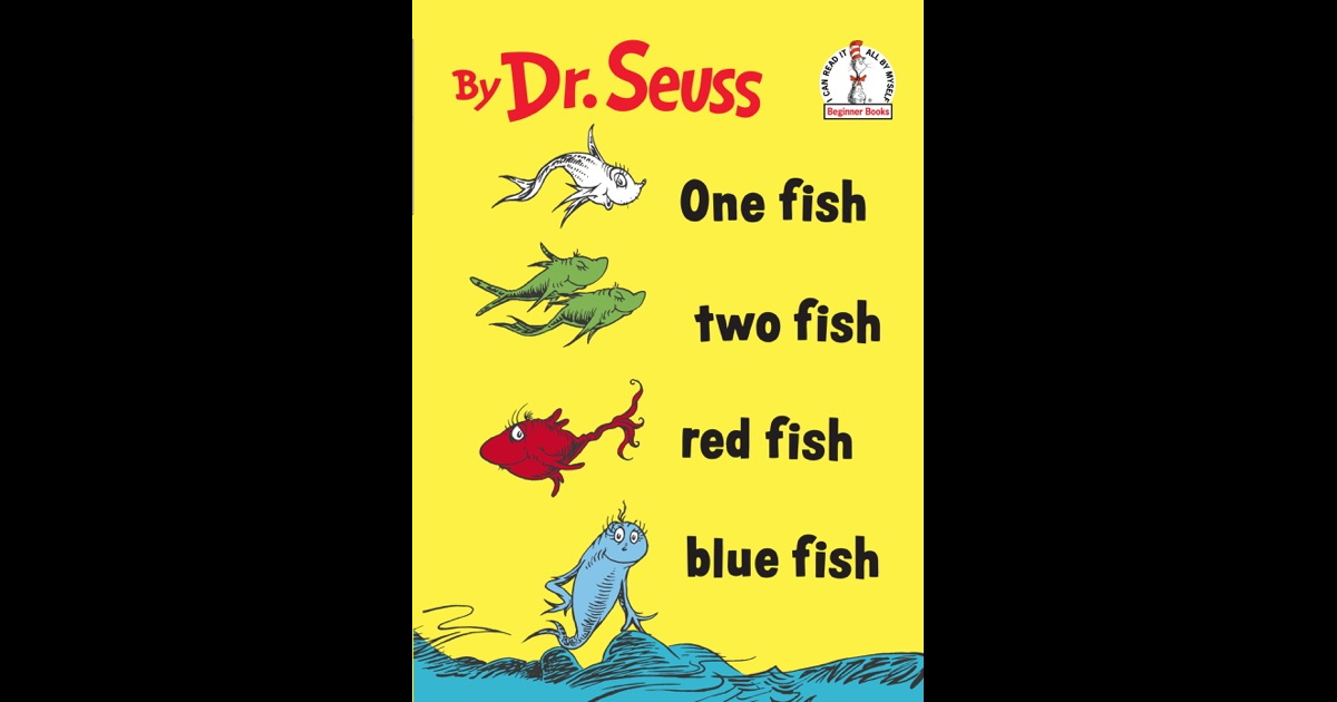 One fish two fish red fish blue fish by dr seuss on ibooks for One fish two fish menu
