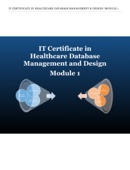 IT Certificate in Healthcare Database Management and Design: Module 1