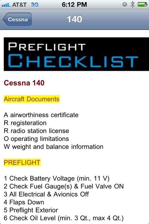 Cessna Checklist by ololac Interactive