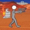 Cartoon Robot Battlefield