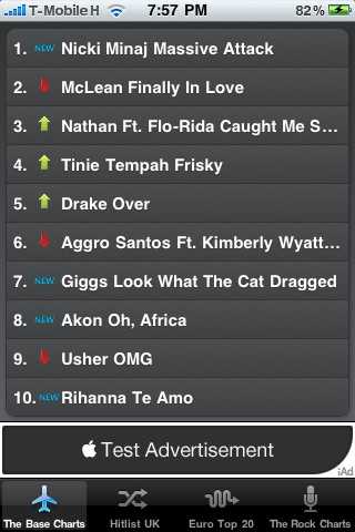 Music Top 10 screenshot 1
