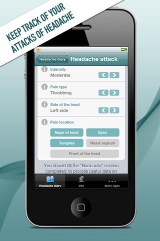 My Headache Diary Screenshot on iOS