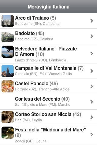 Meraviglia Italiana App screenshot 2
