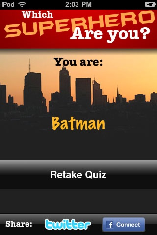 Which Superhero are YOU? screenshot 2