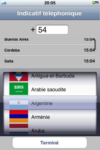 Indicatif Téléphonique screenshot 1