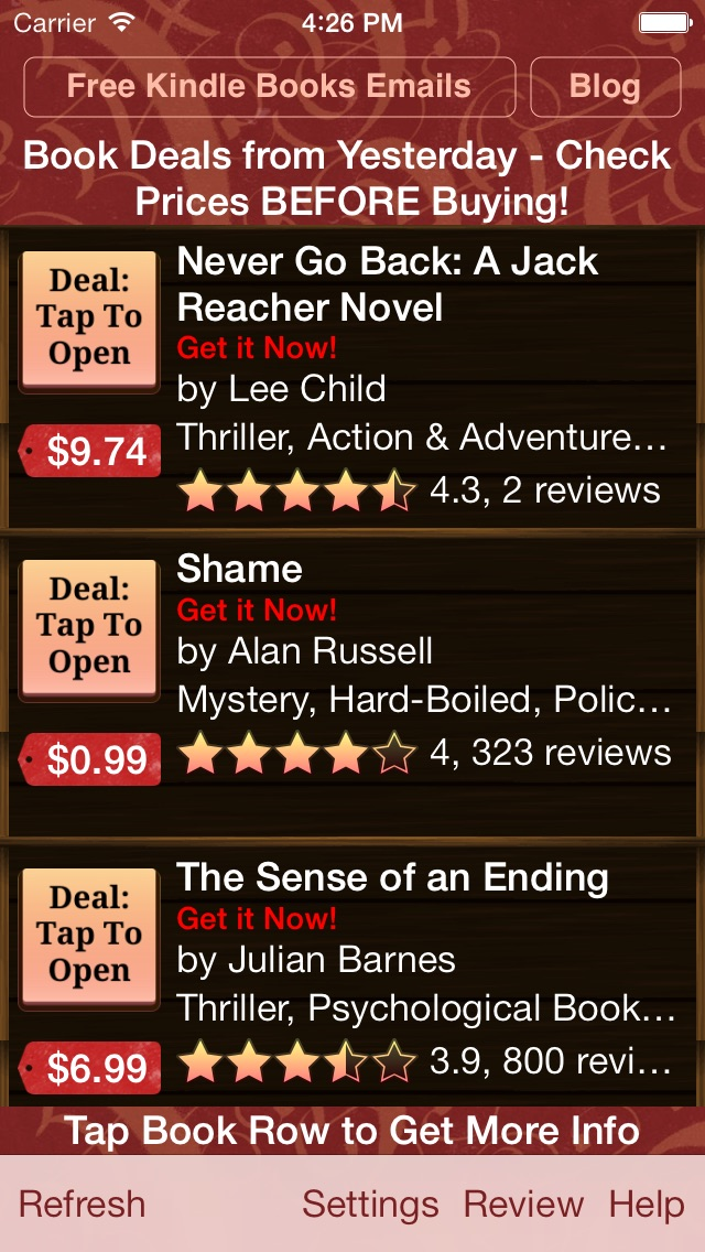 download Book Deals for Kindle, Book Deals for Kindle Fire apps 2