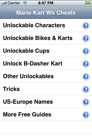 Guide to Mario Kart Wii Cheats - FREE screenshot 1