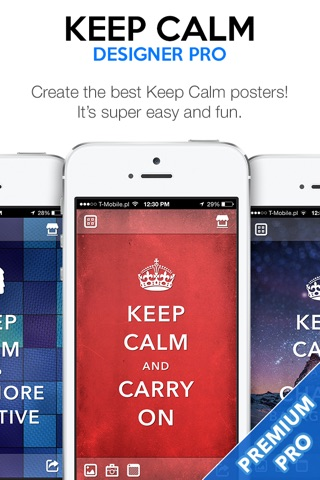 Keep Calm Designer PRO - Create Custom Posters and Wallpapers screenshot 1