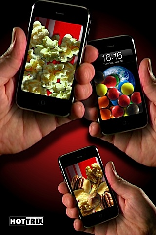 Screenshots of iMunchies (Popcorn, Candy, Nuts) for iPhone