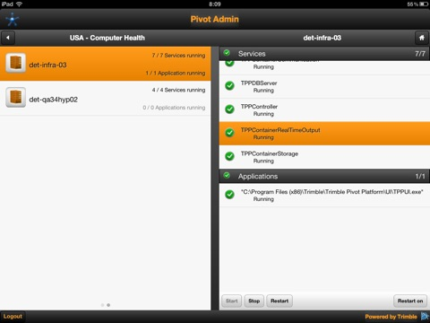 Pivot Admin for iPad screenshot 4