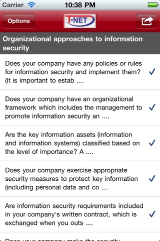 T-Net IT Security Self Assessment screenshot 1