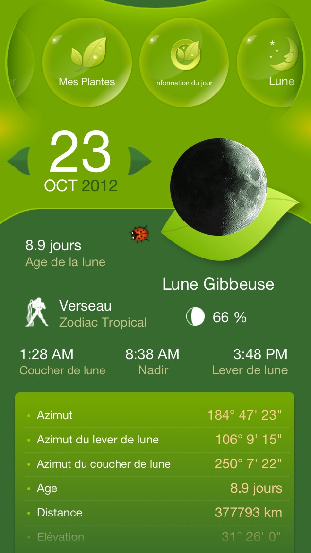 Screenshot #2 pour Jardiner Avec La Lune