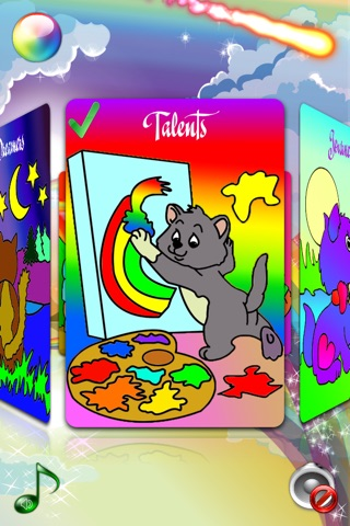 Coloring Pages with Cute Kittens for Girls & Boys - Fashion Painting Sheets and Principe Games for Kids & Babies screenshot 2