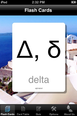 Greek Alphabet Cards screenshot 1
