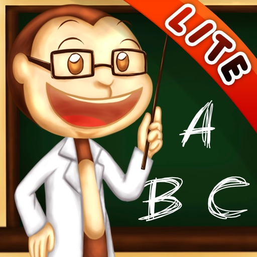 ABC & 123 Monkey Professor Lite - Learn to Write Letters and Numbers for Kids, Hear Letters Pronounced iOS App