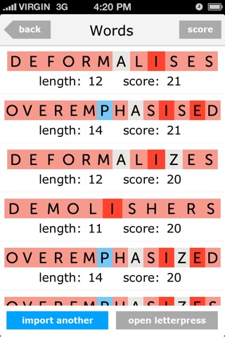 Letter Helper - Free Cheats For Letterpress screenshot 3