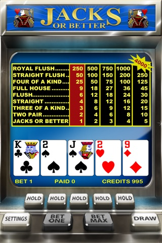 Video Poker screenshot 1
