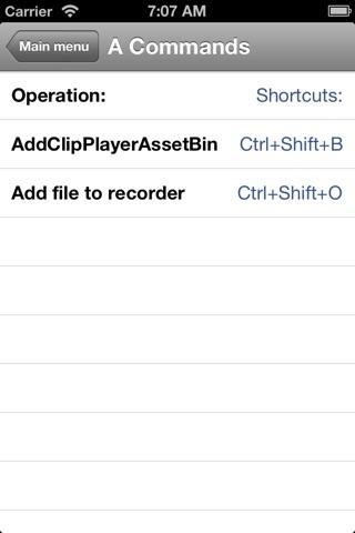 Shortcuts for Grass Valley screenshot 4