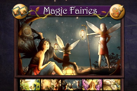 Magic Fairies - Fairy jigsaw and coloring book screenshot 1