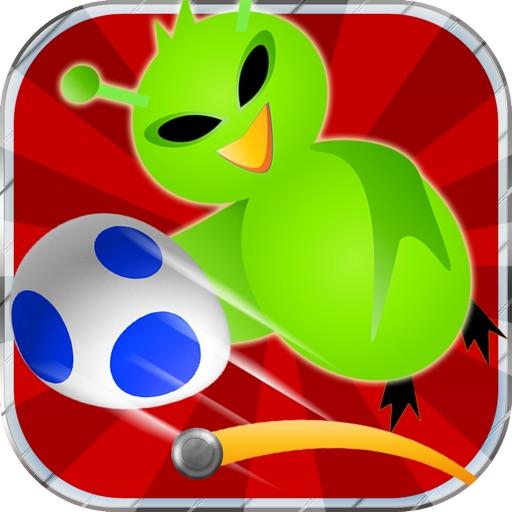 Little Space Bird: Egg Drop - Fun Addictive Egg Bouncing Game (Best free kids games) iOS App