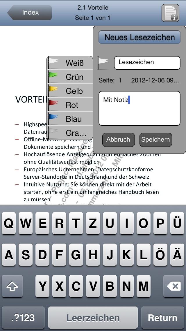 Screenshot von Drooms® für iPad und iPhone4