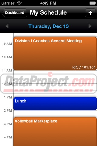 American Volleyball Coaches Association Annual Convention screenshot 2