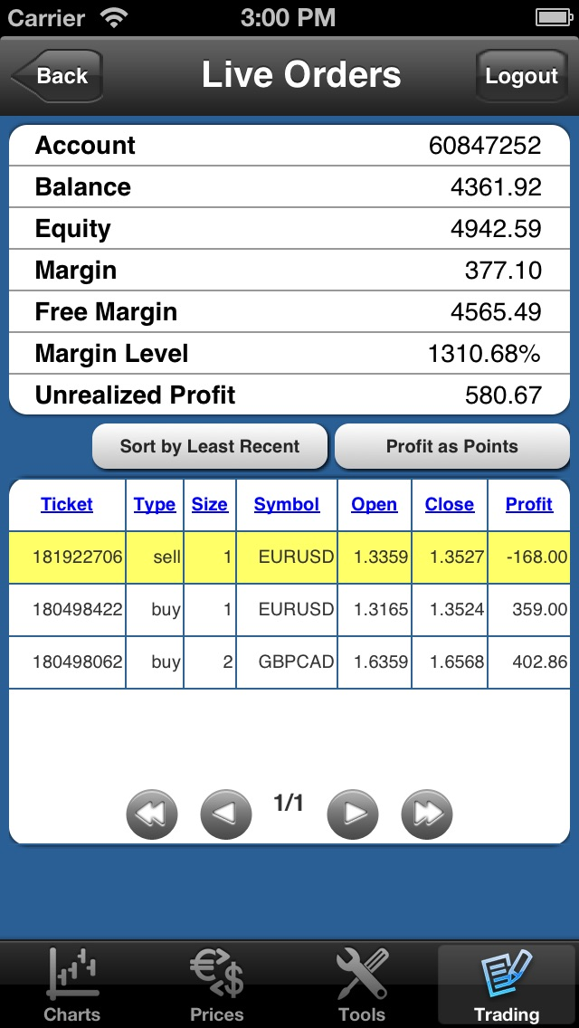 Forex On The Go Lite screenshot three