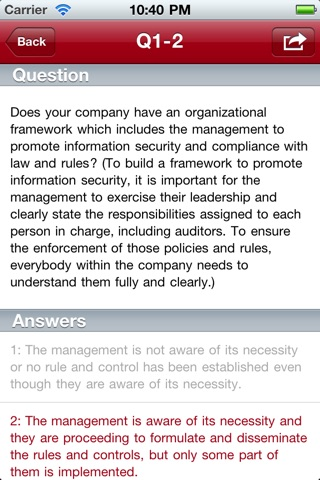T-Net IT Security Self Assessment screenshot 2