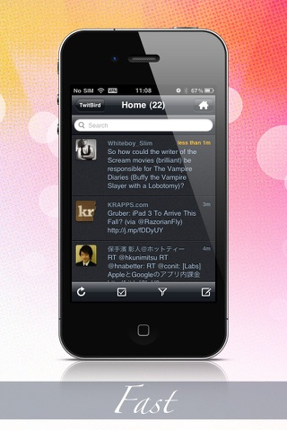 Screenshots of TwitBird free for Twitter for iPhone