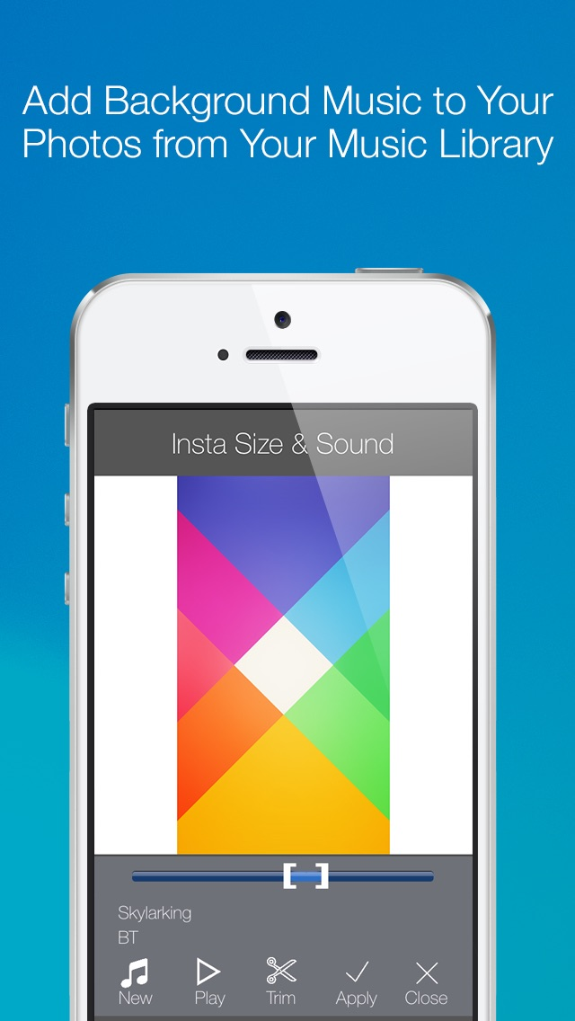Screenshot of InstaSize & Sound - Pubblicare ingrandita foto con musica su Instagram2