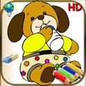 Livro de colorir para crianças e bebês - 24 desenhos para colorir para crianças com animais, palhaço