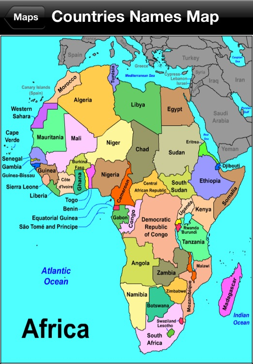 Central African Countries And Capitals