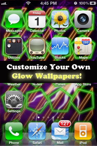 HD Glow HomeScreen Designer For iPhone4-Customize Your Home Screen ...
