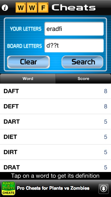 Words Cheats Free - Cheater & Solver for Words with Friends
